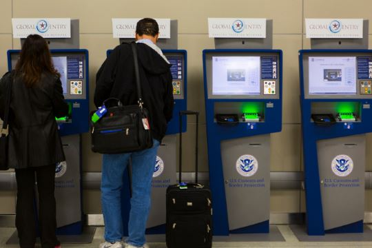 Self-service border kiosks